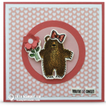 CARD: Sweet Watercolor Bear Hugs Note Card