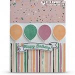 CARD: Birthday Banners Balloon Card
