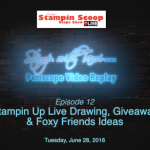 Tuesday's Stampin Scoop Show – Episode 12 – Foxy Friends & Gvieaway