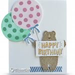 CARD: Happy Birthday Bear Balloon Card