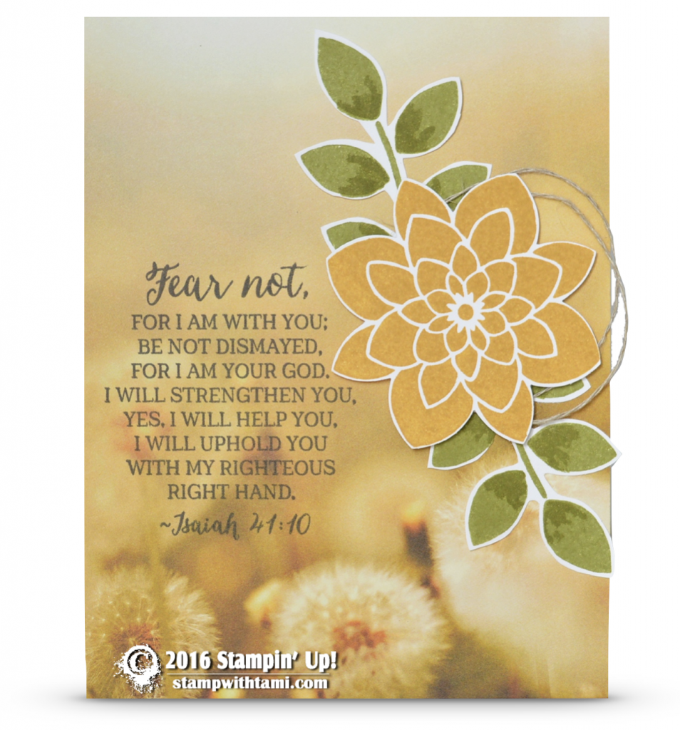 stampin up fear not crazy about you symptahy card