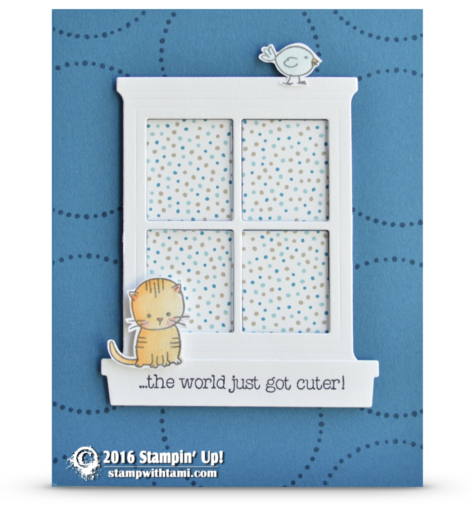stampin up made with love cute kitty card