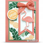 CARD: Flirty Flamingo Pop of Paradise