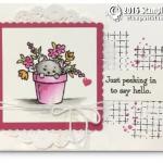 CARD: Peeking In Hello Card from Pretty Kitty & Winner Announced