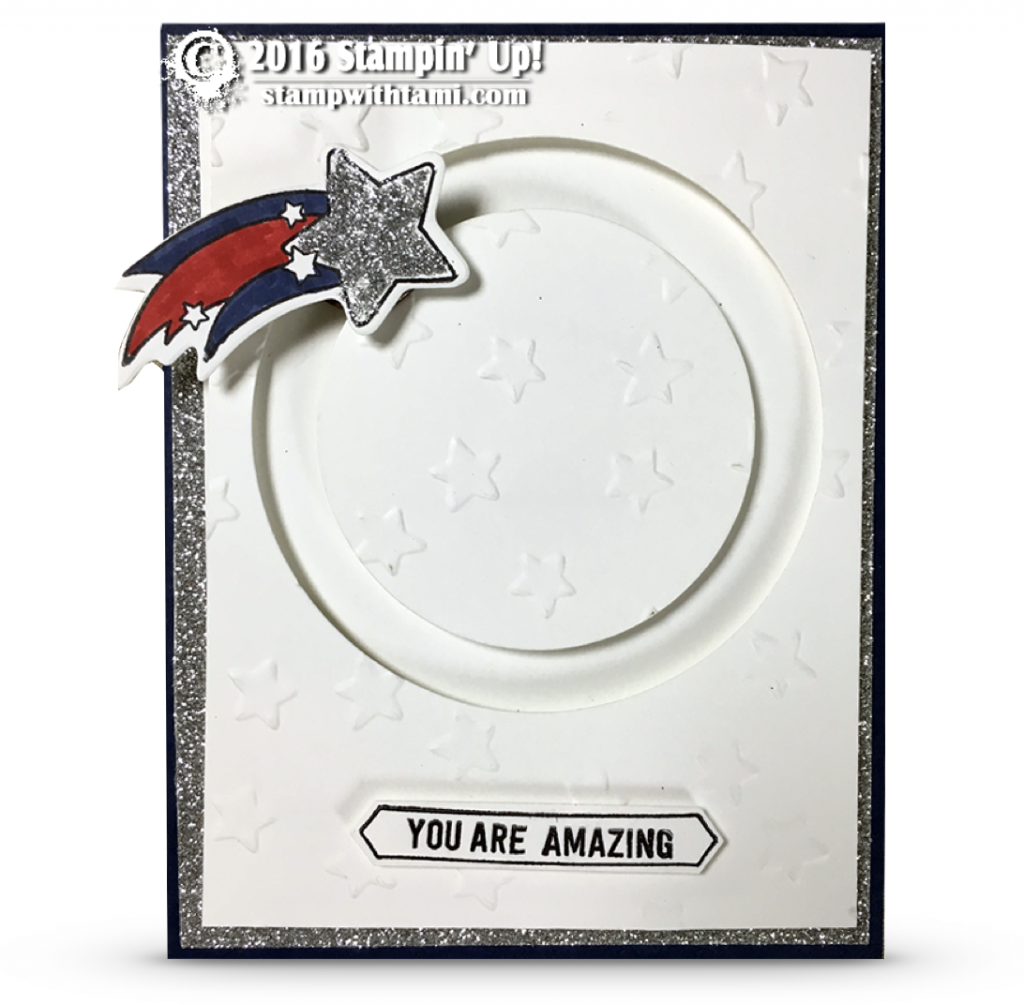 stampin up shooting star spinning card