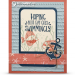 CARD: Seaside Shore Swimming Fishies