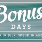 SPECIAL: Earn $5 FREE with Every $50 you Spend during Bonus Days