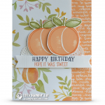 CARD: Sweet Happy Birthday Card from the Fresh Fruit set