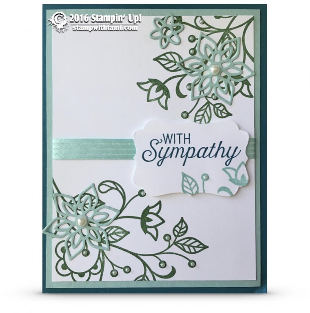 sstampin up florishing phrases card