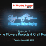 Tuesday's Stampin Scoop Show – Episode 17 – Craft Room Tour and more
