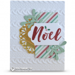 CARD: Noel Holiday card idea from the Christmas Pines set