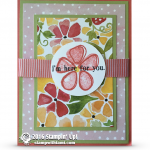 CARD: I'm here for you from the Fresh Fruit set