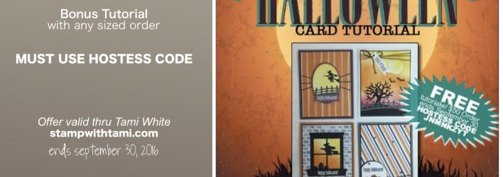 FREE TUTORIALS: Spooky Fun Card Tutorial & Backpack Box Bonus – ends Sept 30