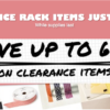 SALE! up to 60% OFF New Clearance Rack items just added – while supplies last