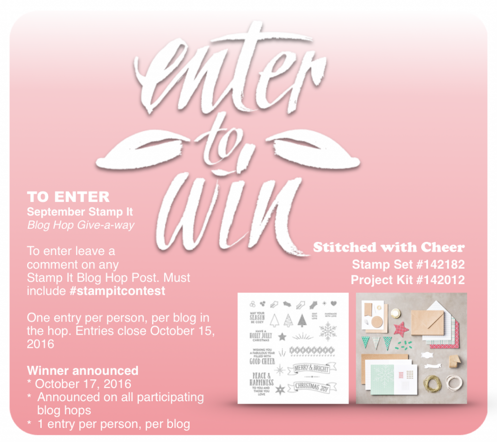 stampin up stamp it giveaway september