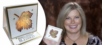 BLOG HOP & GIVEAWAY: How to make a Thanksgiving Tea Light Easel Card