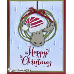 CARD: Jolly Friends Moose Ornament Christmas Card