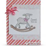 CARD: Sweet Little Lamb Baby Card from Little Cuties
