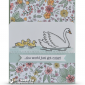 CARD: Swan Lake meets Inside the Lines for a Super Cute Baby Card