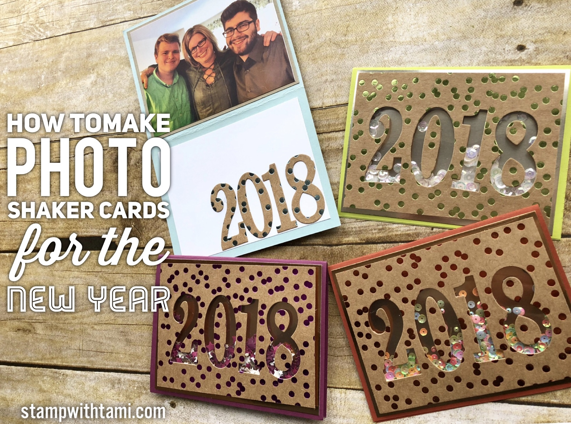 Blog Hop Giveaway How To Make Photo Shaker Cards For New Years