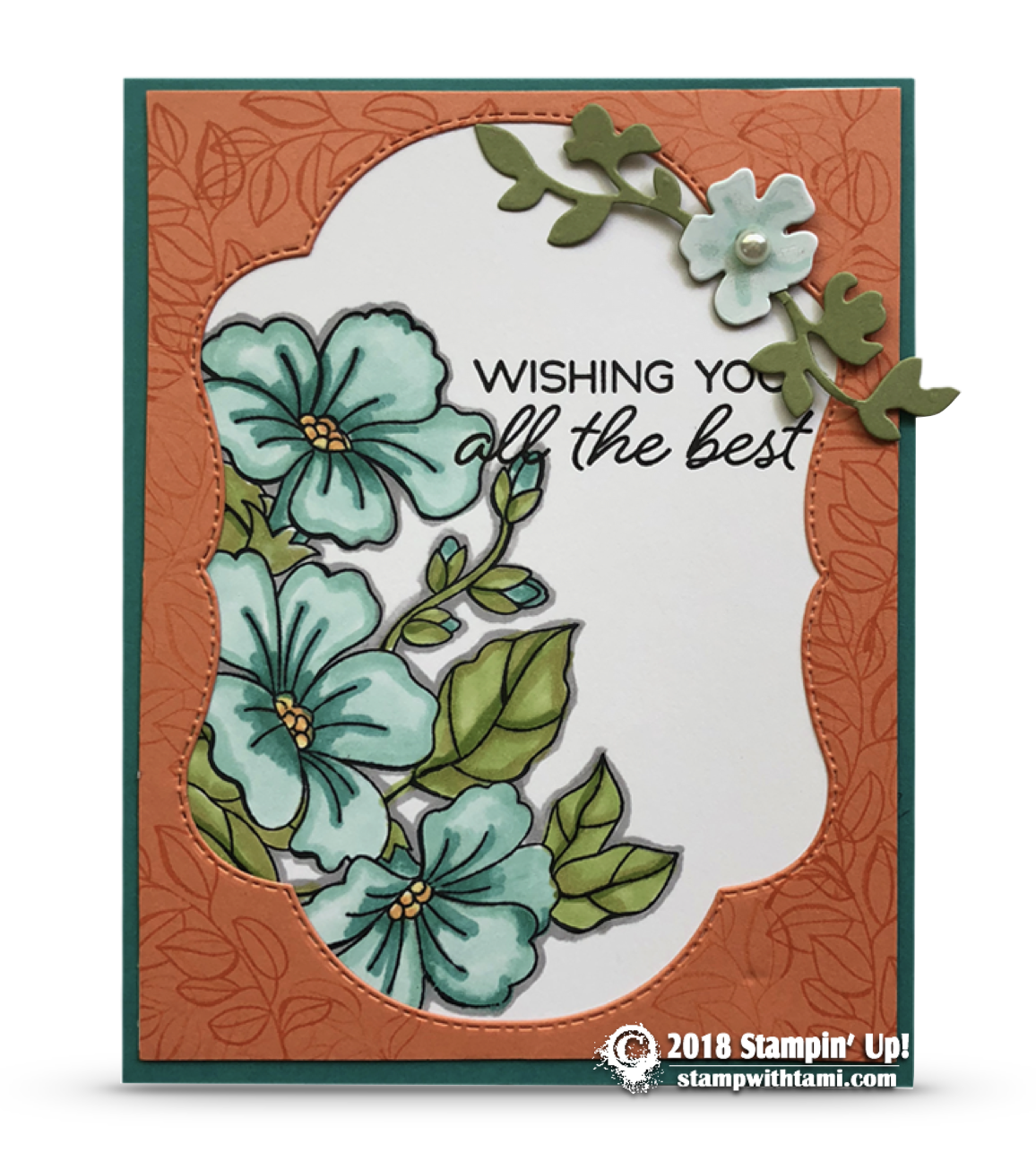 Card Blended Season Wishing You The Best Card Part 2 Stampin Up