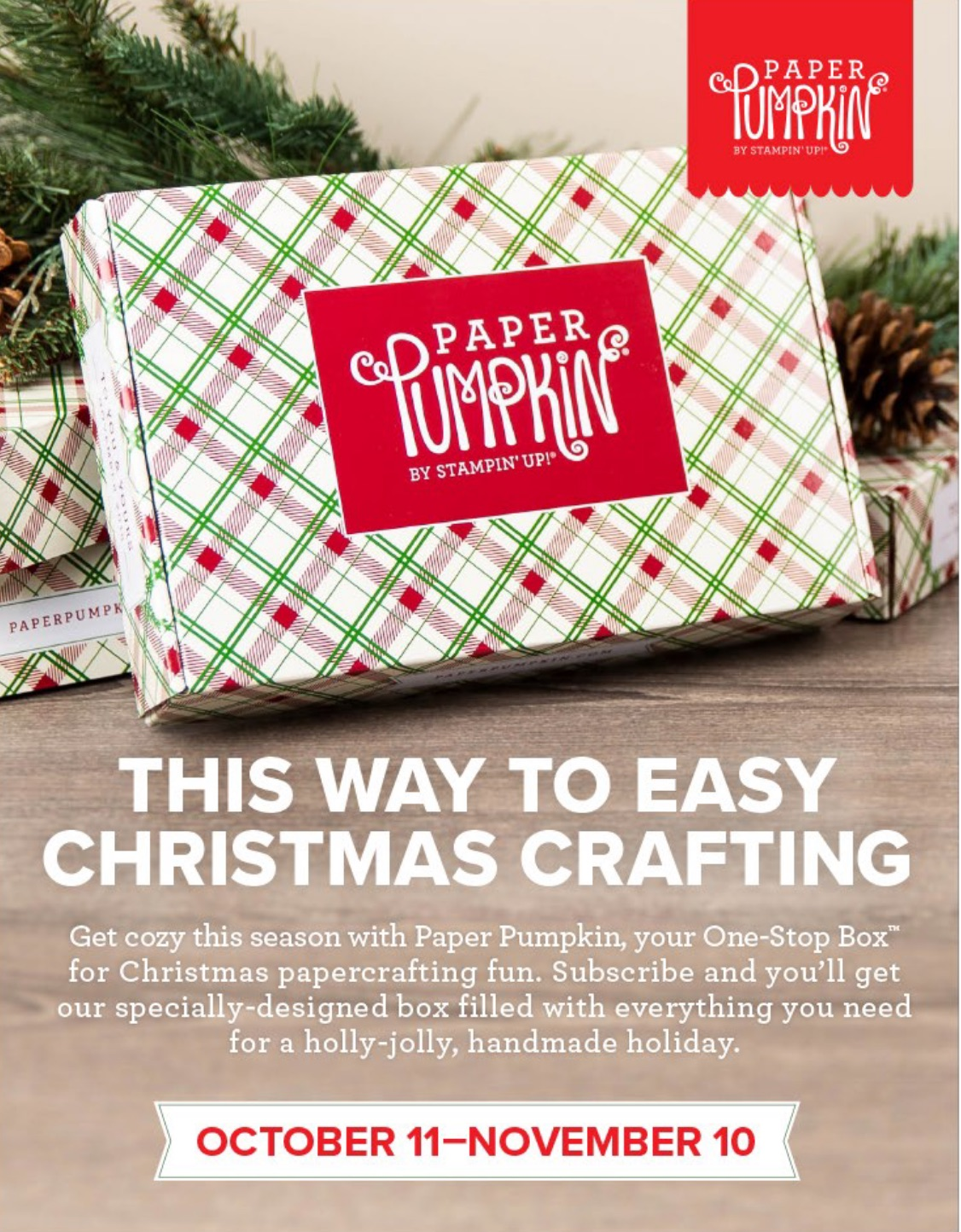Holiday Paper Pumpkin Kits are coming! Subscribe by November 10 | Stampin Up Demonstrator - Tami White - Stamp With Tami Crafting and Card-Making Stampin Up ...
