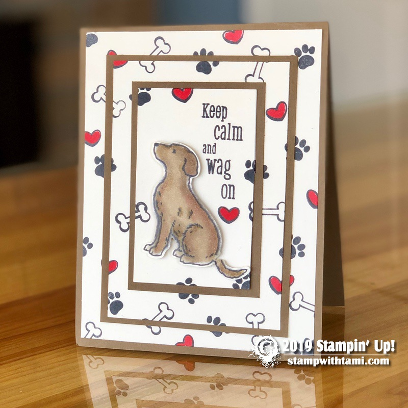 card  a best friend leaves a paw print on your heart
