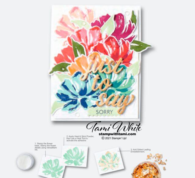 Gilded Fine Art Floral Card Tutorial