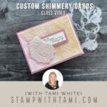 stampin up sea and sand shimmery card video