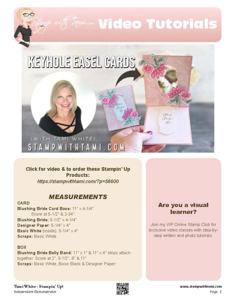Make an Easel Keyhole Card pdf