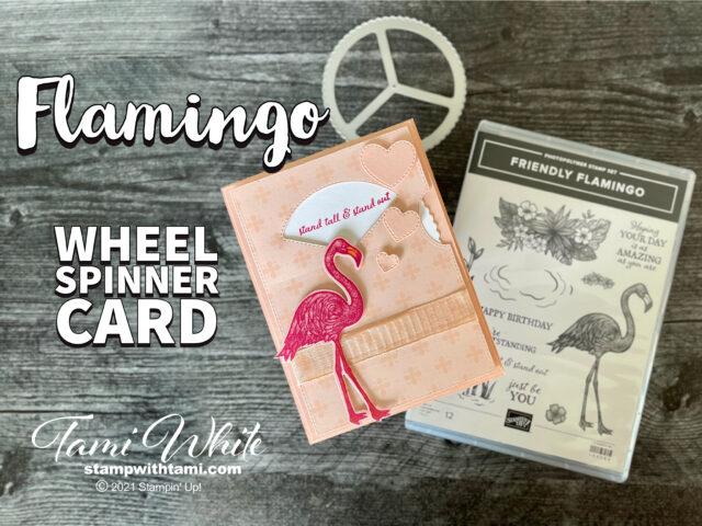 Friendly Flamingo Spinner Card Tutorial