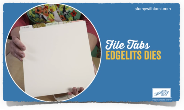 file tabs edgelits stampin up
