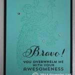 CARD: Bravo meets Perfect Peacock