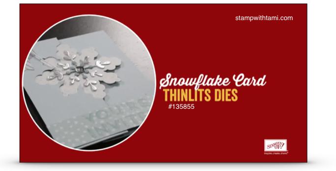 snowflake die stampin up video
