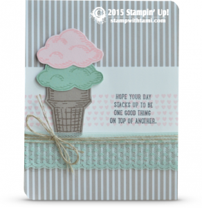 stampin up sprinkles of life card ice cream cone
