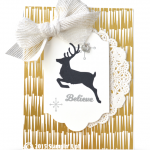 CARD: Believe Reindeer Card