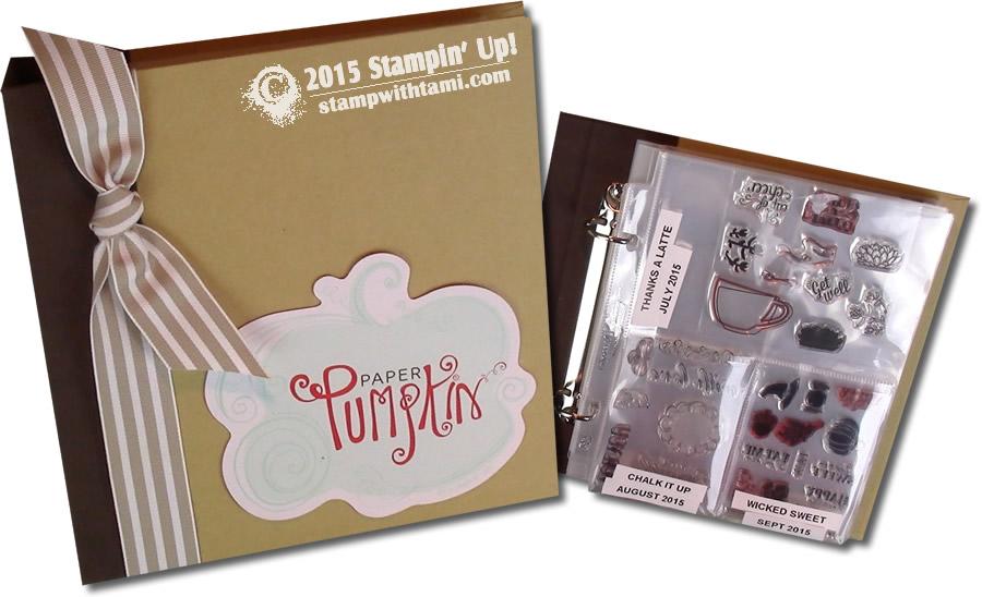 Stampin Up Paper Pumpkin Storage Tips