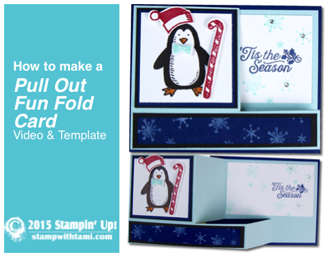 how to make a pull up fun fold card stampin up video
