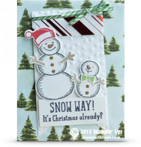 stampin up snow place snow friends card idea