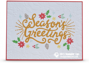 Stampin Up berry merry card