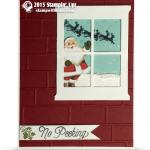 """CARD: Santa in the Window """"No Peeking"""" Card"""