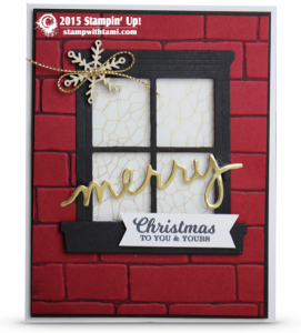 stampin up merry christams hearth and home window
