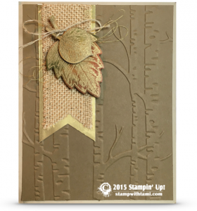 stampin up vintage leaves amojng the branchesfall card