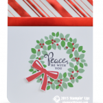 CARD: Peace be with you Wreath Christmas WOW Card