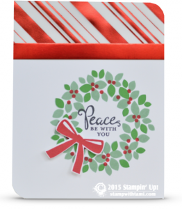 stampin up wondrous wreath christmas card