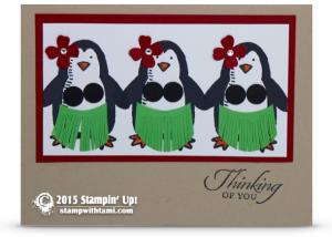 hula penguins stmapin up snow play stamp set