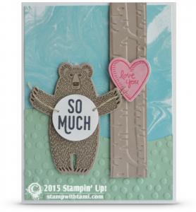 stampin up bear hugs stamp set card