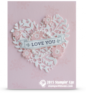 stampin up blooin with love