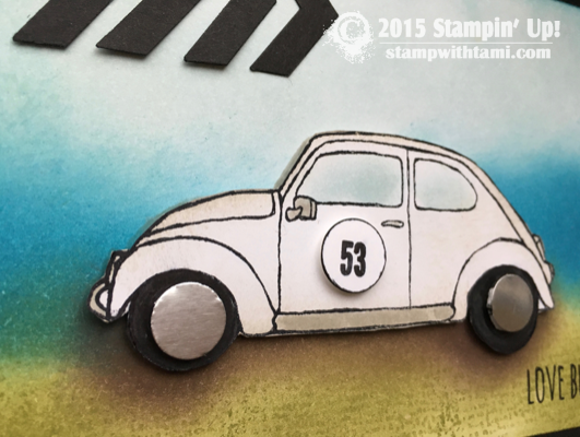 stampin up hebie the love bug vw bettle 1