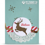 CARD: Jolly Christmas Red-Nosed Reindeer